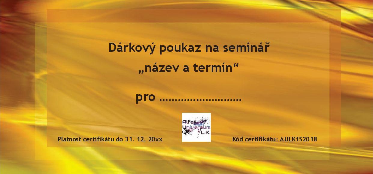 Dárkový poukaz na seminář