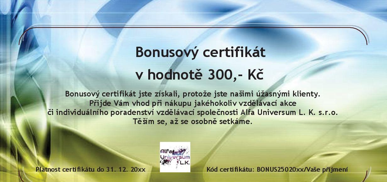 Bonusový certifikát